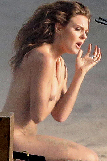 Tove Lo swedish popstar naked during a video shoot