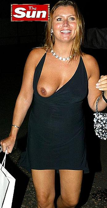 Tricia Penrose tit slip paparazzi photo