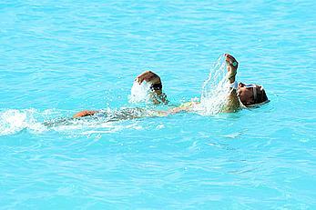 Victoria Hervey in yellow bikini in Barbados