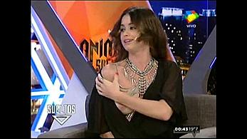 Vitto Saravia boob slip at TV show