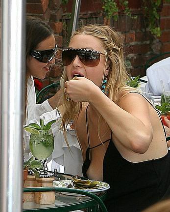 Whitney Port nip slip at the Ivy