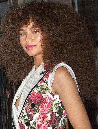 Zendaya Coleman nipple slip at a party in NY