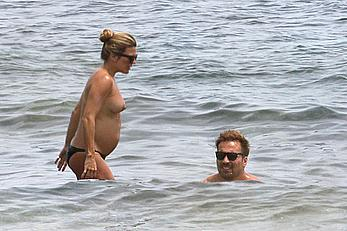 Pregnant Zoe Hardman caught topless in Ibiza