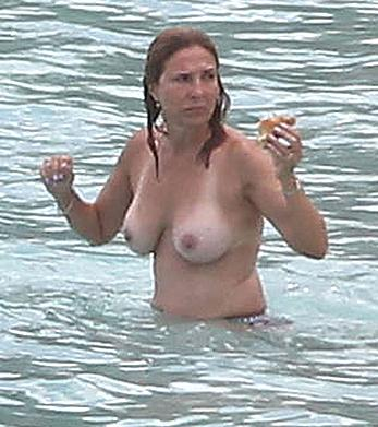 Judge Marilyn Milian caught topless at a Caribbean Beach