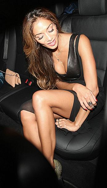 Nicole Scherzinger on a night out seen leaving The Arts Club