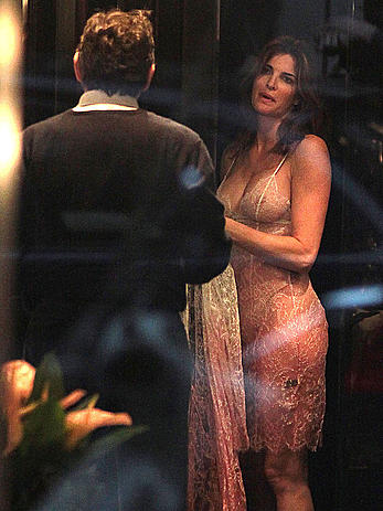 Stephanie Seymour trying on lingerie at Agent Provocateur in Milan