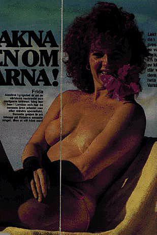 Anni-Frid Lyngstad from ABBA topless and see through images