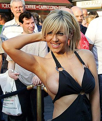Busty Davorka Tovilo nip slip paparazzi photo