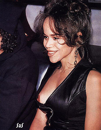 Rosie Perez nipple and areola slip paparazzi shots