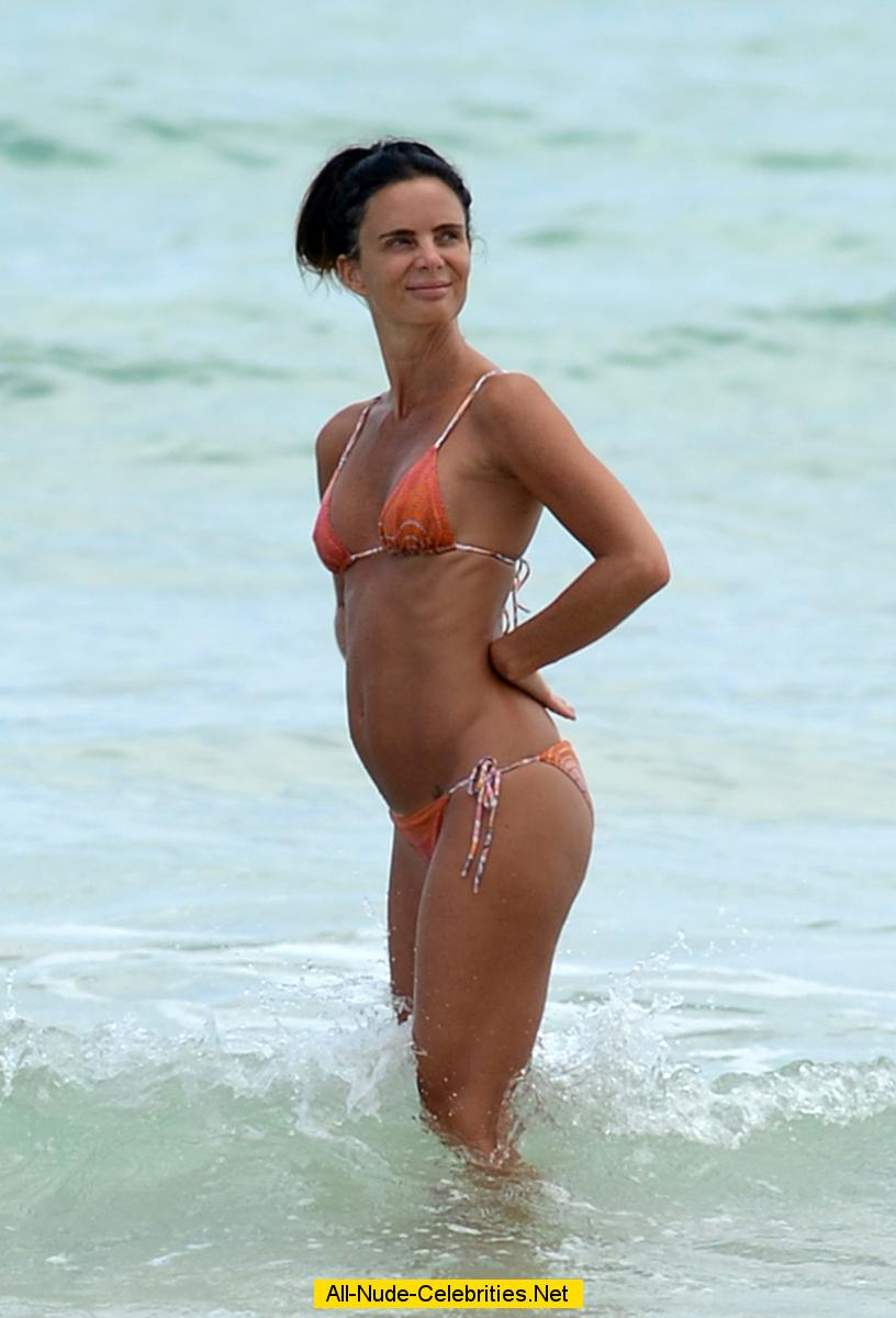 Gabrielle Anwar Sexy In Bikin Candids In Miami