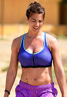 Gemma Atkinson sexy working out on a beach