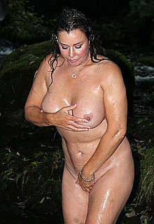 Lisa Appleton nude try to cover boobs & pussy
